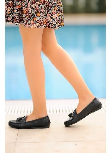 Pembe Potin A0302-20 Kadın Ayakkabı A0302-20 Siyah